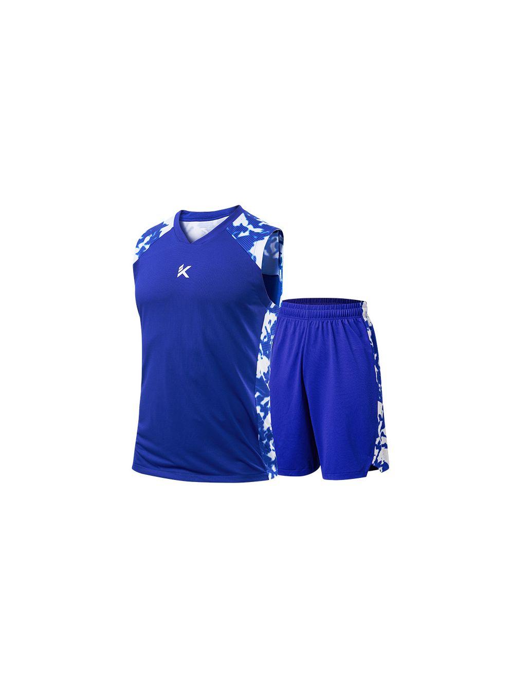size 40 99a5c 92aeb Anta Klay Thompson KT 2019 Men's Basketball Jersey & Shorts - Blue