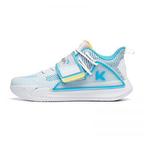 Anta men's KT Splash 2 Klay Thompson 2020 Low Basketball Shoes - White/Blue/Yellow