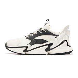 Anta 2019 Men's Walker Shoes   White/Black Daddy Sneakers