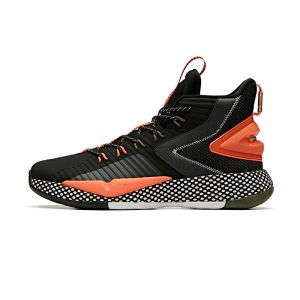 Anta 2019 Winter Klay Thompson A-Shock 3.0 High Basketball Shoes - Black/Orange/White