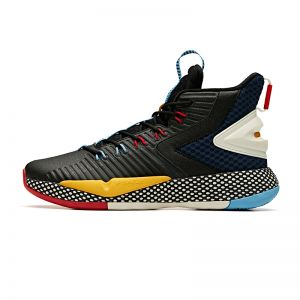Anta 2019 Winter Klay Thompson A-Shock 3.0 High Basketball Shoes - Black/Blue/Yellow/Red