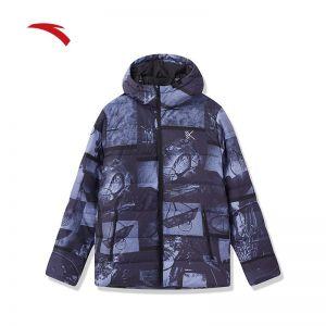 Anta Klay Thompson Men's Winter Personality Down Jackets - Black