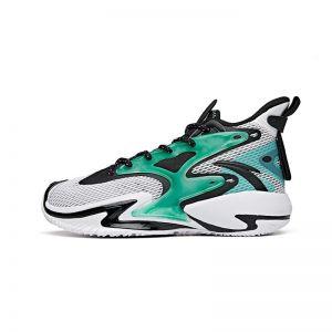 Anta Shock The Game Wave 3.0 Kids 2021 Summer High Basketball shoes - White/Green/Black
