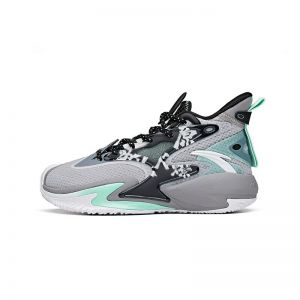 Anta Shock The Game Wave 3.0 Kids 2021 Summer High Basketball shoes - Gray/Green